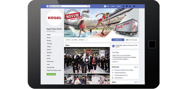 Social Media Facebook – Kögel – Kögel Novum Generation – Sportler